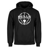 Black Fleece Hoodie-Bulls Basketball Arched w/ Ball