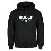 Black Fleece Hoodie-Bulls Football Horizontal w/ Ball