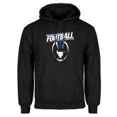 Black Fleece Hoodie-Bulls Football Vertical w/ Ball