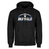 Black Fleece Hoodie-Buffalo Football Under Ball