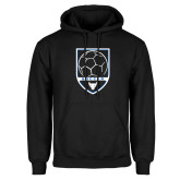 Black Fleece Hoodie-Buffalo Soccer Shield
