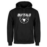 Black Fleece Hoodie-Buffalo Volleyball Stacked w/ Ball