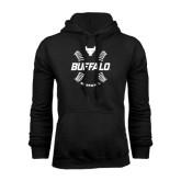 Black Fleece Hoodie-Buffalo Baseball w/ Seams