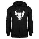 Black Fleece Full Zip Hoodie-Bull Spirit Mark