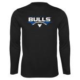 Syntrel Performance Black Longsleeve Shirt-Bulls Football Horizontal w/ Ball