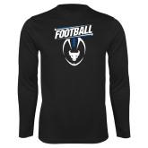 Syntrel Performance Black Longsleeve Shirt-Bulls Football Vertical w/ Ball