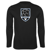 Performance Black Longsleeve Shirt-Buffalo Soccer Shield