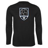 Syntrel Performance Black Longsleeve Shirt-Buffalo Soccer Shield