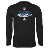 Performance Black Longsleeve Shirt-2018 Mens Basketball Champions - Brush