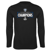 Performance Black Longsleeve Shirt-2018 Mens Basketball Champions - Box