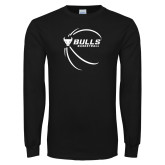 Black Long Sleeve TShirt-Bufallo Basketball w/ Contour Lines