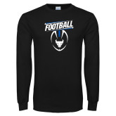 Black Long Sleeve TShirt-Bulls Football Vertical w/ Ball