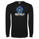 Black Long Sleeve TShirt-Buffalo Soccer Geometric Ball