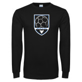 Black Long Sleeve TShirt-Buffalo Soccer Shield