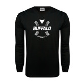 Black Long Sleeve TShirt-Buffalo Baseball w/ Seams