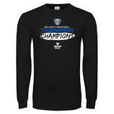 Black Long Sleeve T Shirt-2018 Mens Basketball Champions - Brush