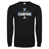 Black Long Sleeve T Shirt-2018 Mens Basketball Champions - Box