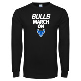 Black Long Sleeve T Shirt-Bulls March On