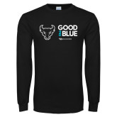 Black Long Sleeve T Shirt-Good 2 Be Blue