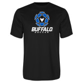 Performance Black Tee-Buffalo Soccer Geometric Ball