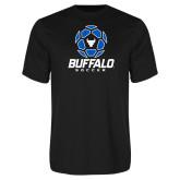 Syntrel Performance Black Tee-Buffalo Soccer Geometric Ball