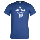 Royal T Shirt-Bufallo Basketball w/ Hanging Net