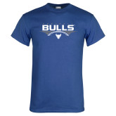 Royal T Shirt-Bulls Football Horizontal w/ Ball