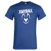 Royal T Shirt-Bulls Football Vertical w/ Ball