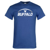 Royal T Shirt-Buffalo Football Under Ball