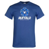 Royal T Shirt-Buffalo Soccer Geometric Ball