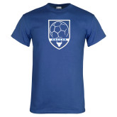 Royal T Shirt-Buffalo Soccer Shield
