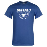 Royal T Shirt-Buffalo Volleyball Stacked w/ Ball