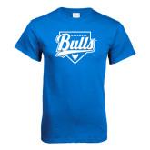 Royal T Shirt-Bulls Baseball Script w/ Plate