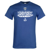 Royal T Shirt-2018 Mens Basketball Champions - Brush