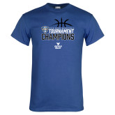 Royal T Shirt-2018 Mens Basketball Champions - Stacked