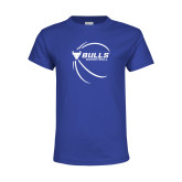 Youth Royal T Shirt-Bufallo Basketball w/ Contour Lines