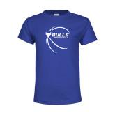 Youth Royal T Shirt-Bufallo Basketball w/ Contour Lines