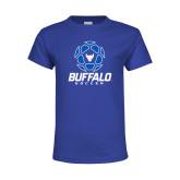 Youth Royal T Shirt-Buffalo Soccer Geometric Ball