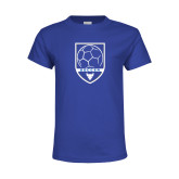 Youth Royal T Shirt-Buffalo Soccer Shield