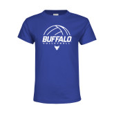 Youth Royal T Shirt-Buffalo Volleyball Stacked Under Ball