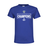 Youth Royal T Shirt-2018 Mens Basketball Champions - Box