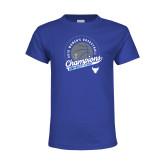 Youth Royal T Shirt-2019 Womens Basketball Champions