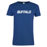 Ladies Royal T Shirt-Buffalo Word Mark