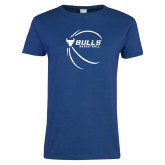 Ladies Royal T Shirt-Bufallo Basketball w/ Contour Lines