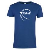 Ladies Royal T Shirt-Bufallo Basketball w/ Contour Lines