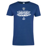Ladies Royal T-Shirt-2018 Mens Basketball Champions - Brush
