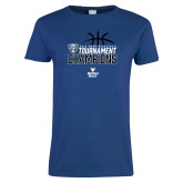 Ladies Royal T-Shirt-2018 Mens Basketball Champions - Stacked