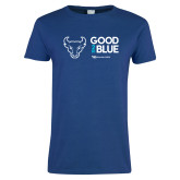 Ladies Royal T Shirt-Good 2 Be Blue