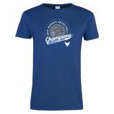 Ladies Royal T Shirt-2019 Womens Basketball Champions
