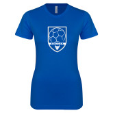 Next Level Ladies SoftStyle Junior Fitted Royal Tee-Buffalo Soccer Shield